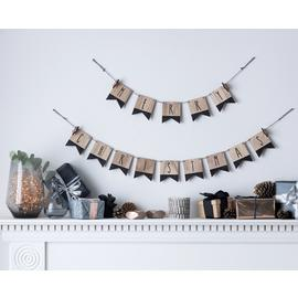 Argos Home Christmas Noir Merry Christmas Bunting