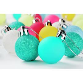 Argos Home Christmas Neon Baubles - 54 Pack