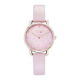 Victoria Hyde Pink Leather Strap Watch