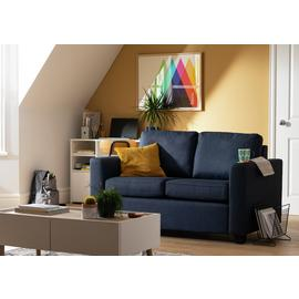 Argos Home Apartment 2 Seater Fabric Sofa Bed - Navy