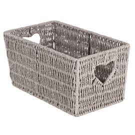 Argos Home Small Woven Heart Storage Basket