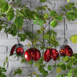 Argos Home Set of 4 Decorative Ladybird LED Lights