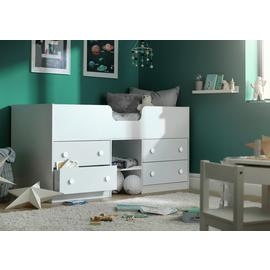 Argos Home Jackson White Shorty Mid Sleeper Bed & Mattress
