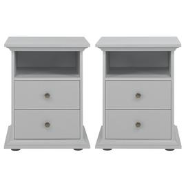 Argos Home Heathland 2x Bedside Table Set