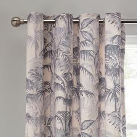 Argos Home Palme Luxe Lined Eyelet Curtains