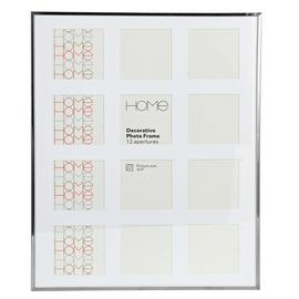 Argos Home Multi Aperture Photo Frame - Silver