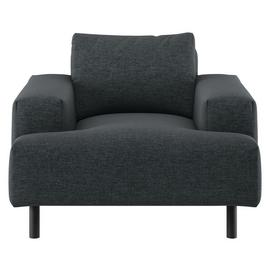 Habitat Julien Charcoal Fabric Armchair