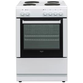 Bush DHBES60WX 60cm Single Electric Cooker - White