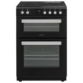 Belling FSE608DPC 59.5cm Double Oven Electric Cooker - Black
