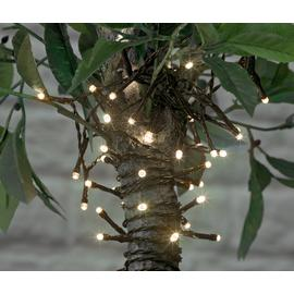 Argos Home 100 White LED Solar String Lights