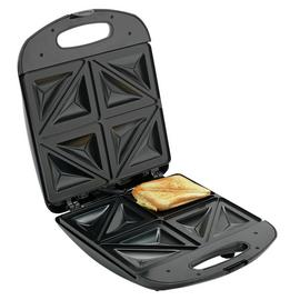 Cookworks 4 Portion Sandwich Toaster - Black