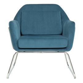 Argos Home Juliette Velvet Accent Chair - Teal