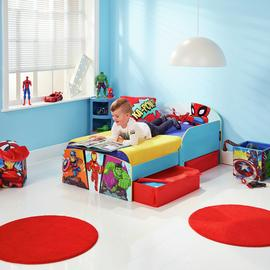 Marvel Avengers Toddler Bed with Drawers & Mattress