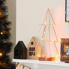 Argos Home Christmas Noir Tree Light - Copper