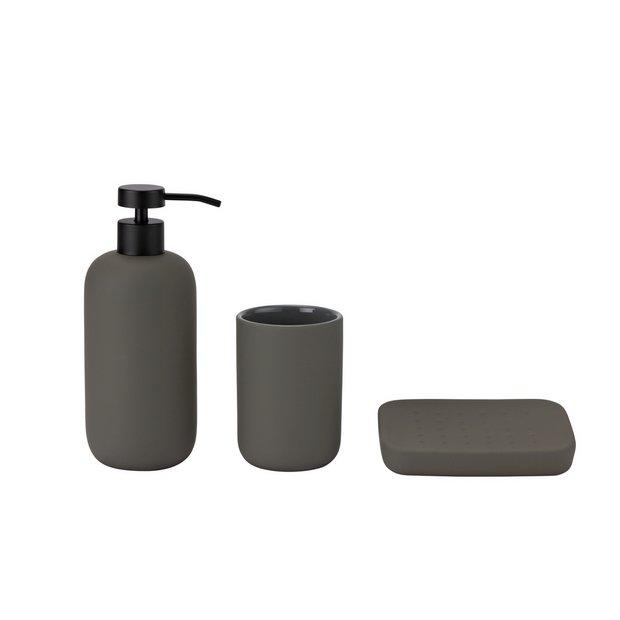 Buy Habitat 3 Piece Apartment Bathroom Accessory Set Grey Bathroom Accessory Sets Argos