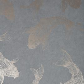 Pisces Slate Grey Wallpaper