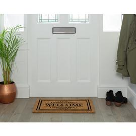 Argos Home Traditional Welcome Coir Doormat