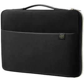 HP 15.6 Inch Laptop Sleeve - Black and Gold