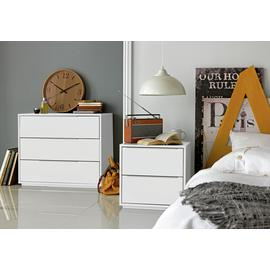 Argos Home Holsted 2 Drawer Bedside Table
