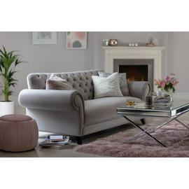 Argos Home Chelsea 3 Seater Velvet Sofa - Grey