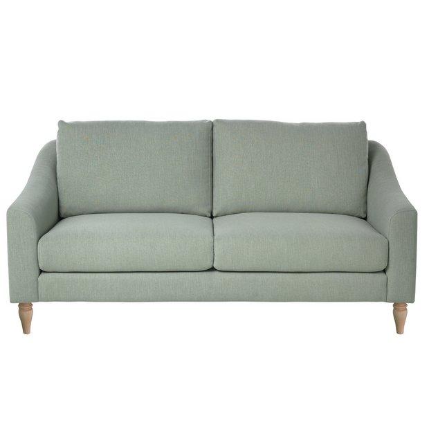 Buy Argos Home Cameron 3 Seater Fabric Sofa Sage | Sofas | Argos