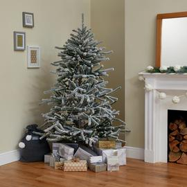 Argos Home Pre-Lit Natural Snowy Tree - 6ft