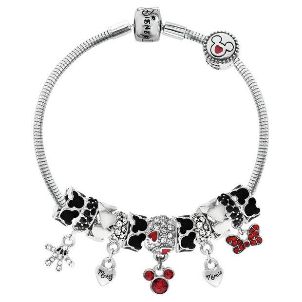 Buy Disney Classic Mickey And Minnie Mouse Charm Bracelet Kids Bracelets Argos