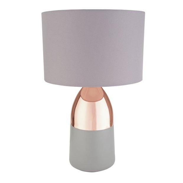 Habitat Pair of Maya Table Touch Lamps Copper /& Cream.
