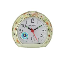 Wm. Widdop Floral Design Alarm Clock