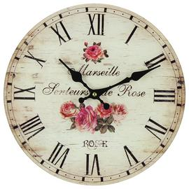 Argos Home Floral Glass Wall Clock