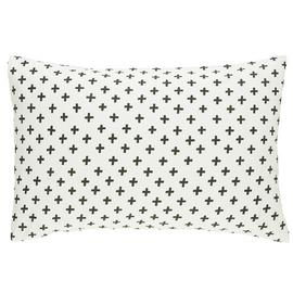 Habitat Wilma Cotton Standard Pillowcase Pair -Black & White