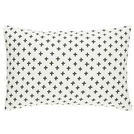 Habitat Wilma Cotton Standard Pillowcase Pair -Black & White