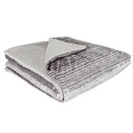 Argos Home Silver Pleated Bedspread