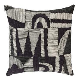 Argos Home Kanso Crewel Cushion - Monochrome