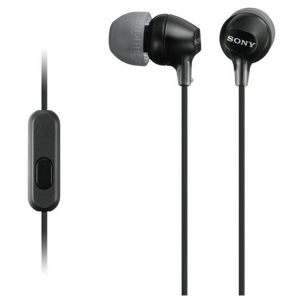Sony MDR-EX15AP In-Ear Wired Headphones - Black