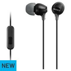 Sony MDR-EX15AP In - Ear Wired Headphones - Black