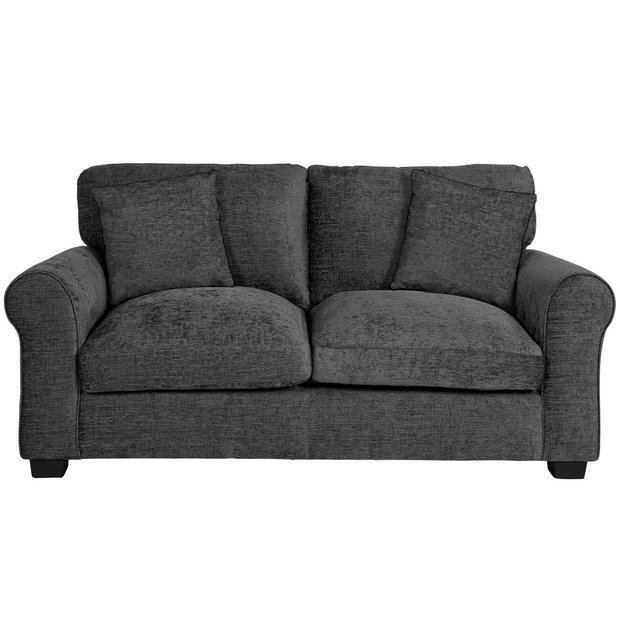 Buy Argos Home Tammy 2 Seater Fabric Sofa - Charcoal | Sofas | Argos