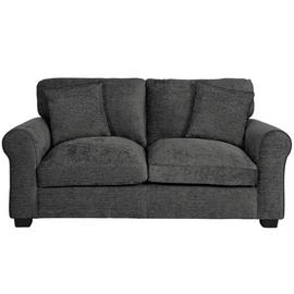 Argos Home Tammy 2 Seater Fabric Sofa - Charcoal.