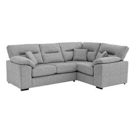 Argos Home Donavan Right Corner Fabric Sofa - Silver