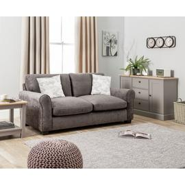 Argos Home Tammy 3 Seater Fabric Sofa - Charcoal
