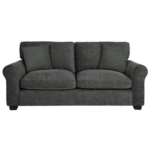 Buy Argos Home Tammy 3 Seater Fabric Sofa - Charcoal | Sofas | Argos