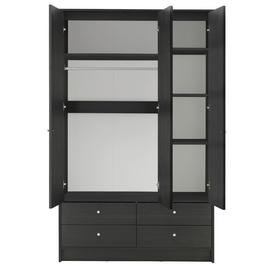 Argos Home Malibu 3 Door 4 Drawer Mirror Wardrobe