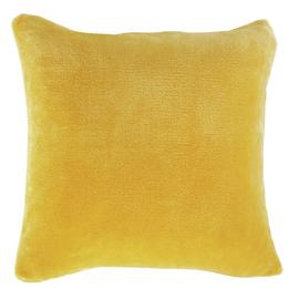 Argos Home Supersoft Fleece Cushion - Mustard