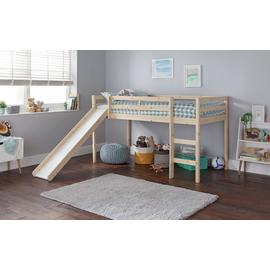 Argos Home Kaycie Pine Mid Sleeper, Slide & Kids Mattress