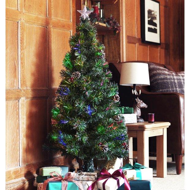 Buy Argos Home 4ft Fibre Optic Cone Berry Christmas Tree Christmas Trees Argos