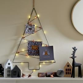 Argos Home Christmas Noir Wire Tree Card Holder