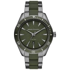 Armani Exchange Men's Gunmetal Bracelet Watch