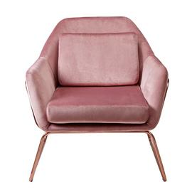 Argos Home Juliette Velvet Accent Chair - Pink