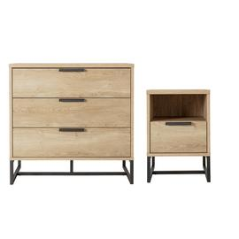 Argos Home Nomad Bedside Table & 3 Drawer Chest Set