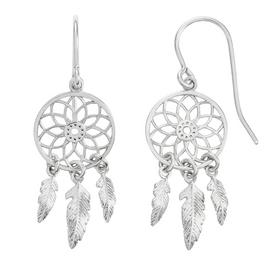 Revere Silver Dreamcatcher Drop Earrings